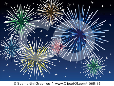 fireworks clipart. Clipart Fireworks - Royalty