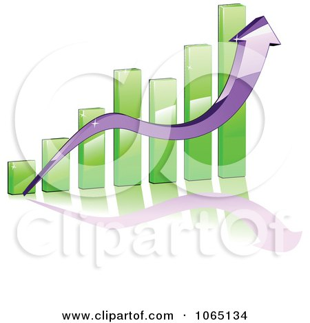 Clipart Bar Graph And Arrow 4 - Royalty Free Vector Illustration by Vector Tradition SM