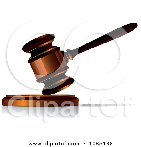 Clipart Banging Gavel 1 - Royalty Free Vector Illustration by Vector Tradition SM