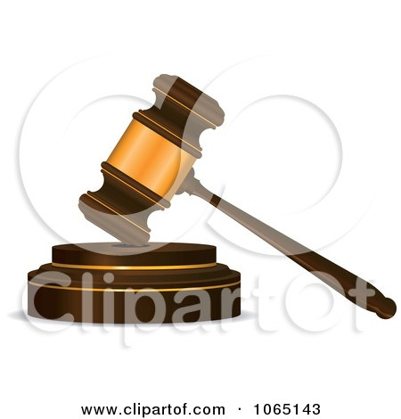 Clipart Banging Gavel 2 - Royalty Free Vector Illustration by Vector Tradition SM