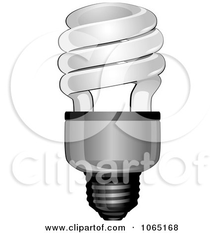 Clipart Spiral Light Bulb - Royalty Free Vector Illustration by Vector Tradition SM