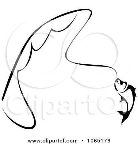 Clipart Trout On A Line - Royalty Free Vector Illustration by Vector Tradition SM