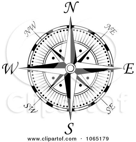Clipart Compass Face 2