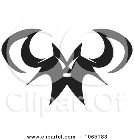 Clipart Menacing Flying Bat 1 - Royalty Free Vector Illustration by Arena Creative