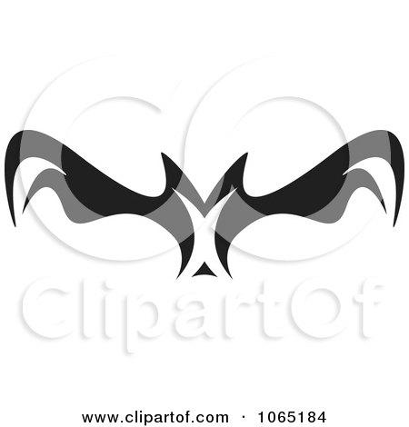 Clipart Menacing Flying Bat 4 - Royalty Free Vector Illustration by Arena Creative