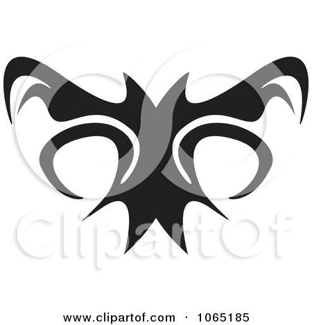 Clipart Menacing Flying Bat 3 - Royalty Free Vector Illustration by Arena Creative