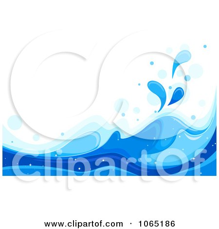Clipart Blue Sea Waves Background 2 - Royalty Free Vector Illustration by BNP Design Studio