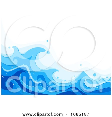 Clipart Blue Sea Waves Background 1 - Royalty Free Vector Illustration by BNP Design Studio