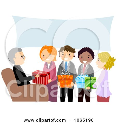 Clipart People At A Retirement Party - Royalty Free Vector Illustration by BNP Design Studio