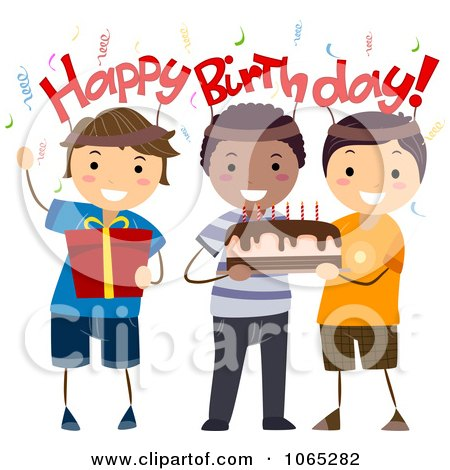 Royalty-Free (RF) Clipart of Birthday Boys, Illustrations ...