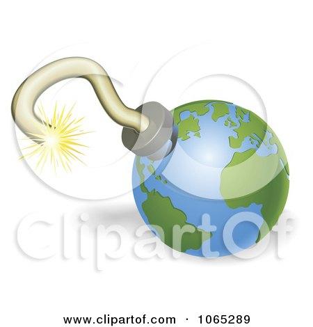 Clipart 3d Globe Bomb - Royalty Free Vector Illustration by AtStockIllustration