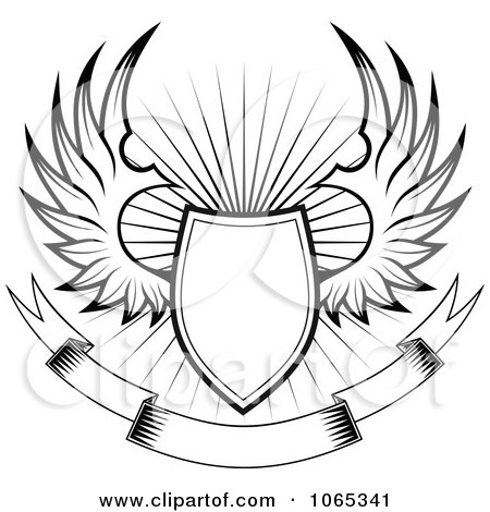 Clipart Shield With Wings 4 Royalty