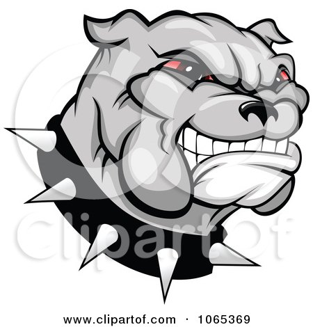 Clipart Of A Seamless Background Pattern Of Black And White Bulldogs