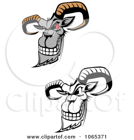 Clipart Evil Goats - Royalty Free Vector Illustration by Vector Tradition SM