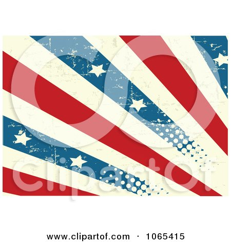 Clipart Grungy American Stripes And Stars Background - Royalty Free Vector Illustration by Pushkin
