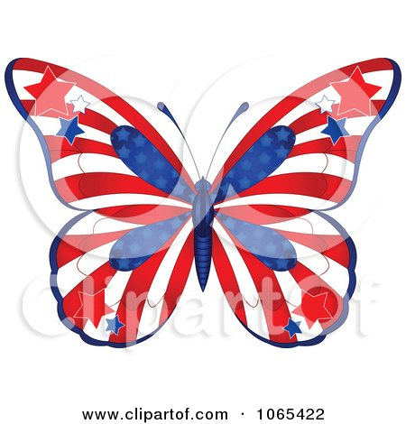 Clipart American Butterfly - Royalty Free Vector Illustration by Pushkin