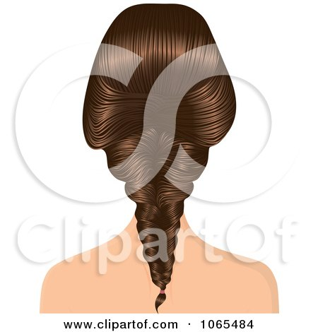 Clipart Woman With A French Braid - Royalty Free Vector Illustration by Melisende Vector