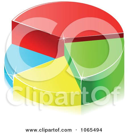 Clipart Colorful 3d Pie Chart 2 - Royalty Free Vector Illustration by Vector Tradition SM