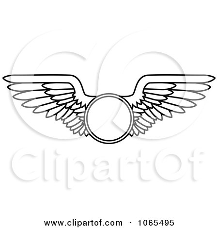 Clipart Black And White Wings 13 - Royalty Free Vector Illustration by Vector Tradition SM