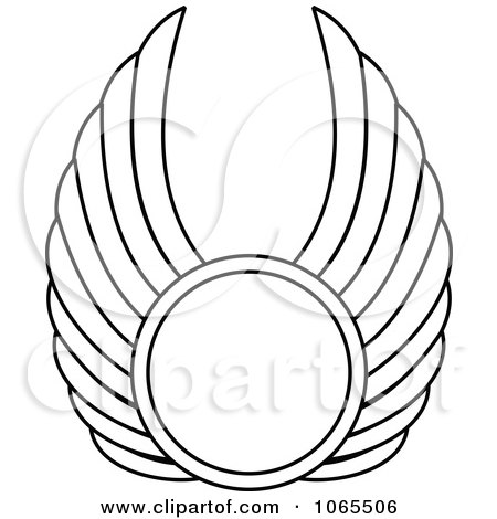 Clipart Black And White Wings 18 - Royalty Free Vector Illustration by Vector Tradition SM