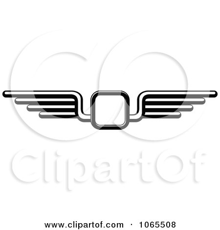 Clipart Black And White Wings 10 - Royalty Free Vector Illustration by Vector Tradition SM