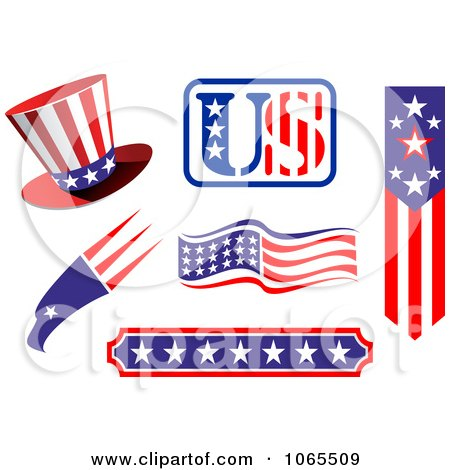 Clipart Patriotic American Elements 6 - Royalty Free Vector Illustration by Vector Tradition SM