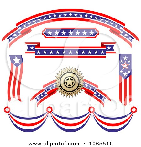 Clipart Patriotic American Elements 5 - Royalty Free Vector Illustration by Vector Tradition SM