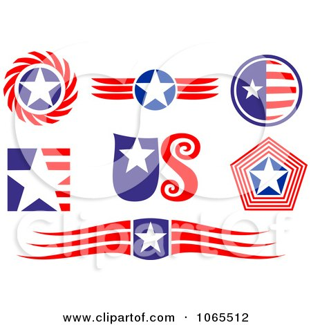 Clipart Patriotic American Elements 4 - Royalty Free Vector Illustration by Vector Tradition SM