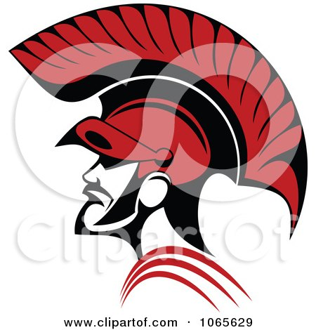 Clipart Roman Soldier And Helmet 2 - Royalty Free Vector Illustration by Vector Tradition SM
