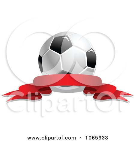 Clipart Soccer Ball And Ribbon 4 - Royalty Free Vector Illustration by Vector Tradition SM