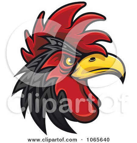 Clipart Tough Rooster 2 - Royalty Free Vector Illustration by Vector Tradition SM