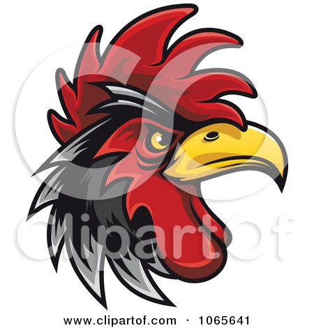Clipart Tough Rooster 3 - Royalty Free Vector Illustration by Vector Tradition SM