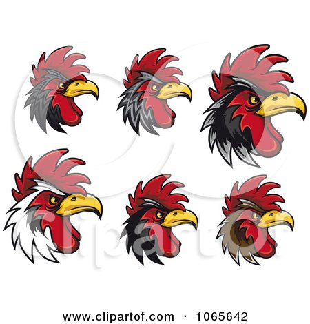Clipart Tough Roosters 1 - Royalty Free Vector Illustration by Vector Tradition SM