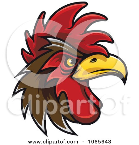 Clipart Tough Rooster 7 - Royalty Free Vector Illustration by Vector Tradition SM