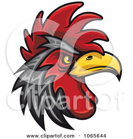 Clipart Tough Rooster 4 - Royalty Free Vector Illustration by Vector Tradition SM