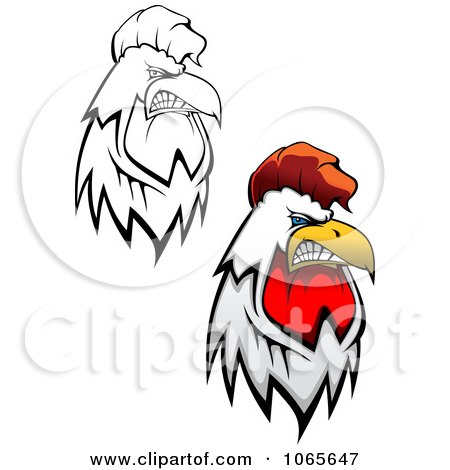 Clipart Tough Roosters 2 - Royalty Free Vector Illustration by Vector Tradition SM
