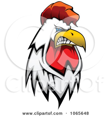 Clipart Tough Rooster 1 - Royalty Free Vector Illustration by Vector Tradition SM