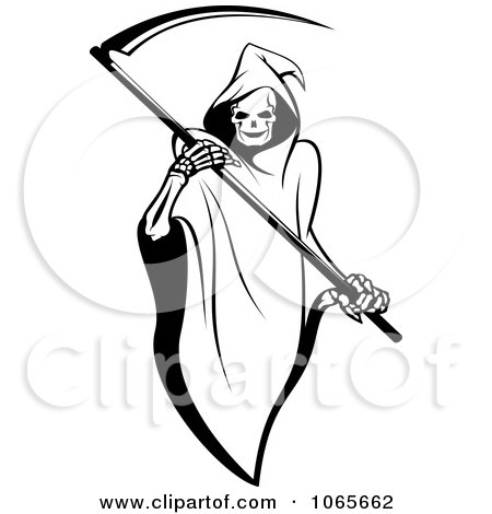 Clipart Grim Reaper 1 - Royalty Free Vector Illustration by Vector Tradition SM