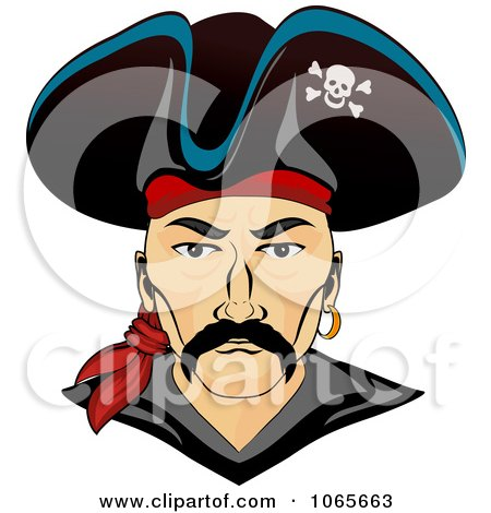 Clipart Pirate Face 1 - Royalty Free Vector Illustration by Vector Tradition SM