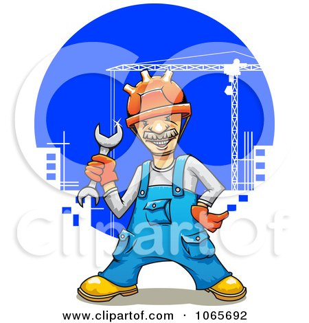 Clipart Construction Worker - Royalty Free Vector Illustration by Vector Tradition SM