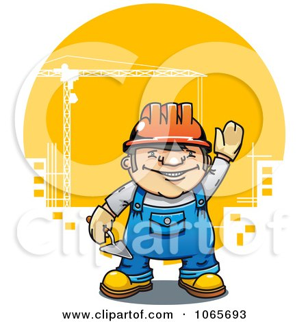 Clipart Mason Construction Worker - Royalty Free Vector Illustration by Vector Tradition SM