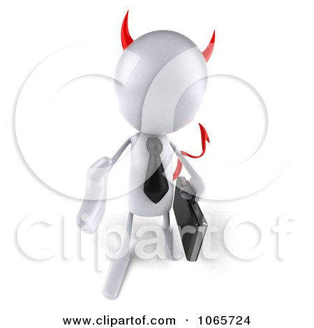 3d White Bob Devil Businessman 2 Posters, Art Prints