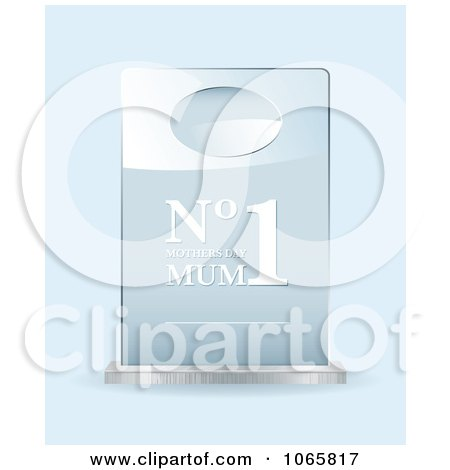 Clipart 3d Number One Mum Mothers Day Award - Royalty Free Vector Illustration by michaeltravers