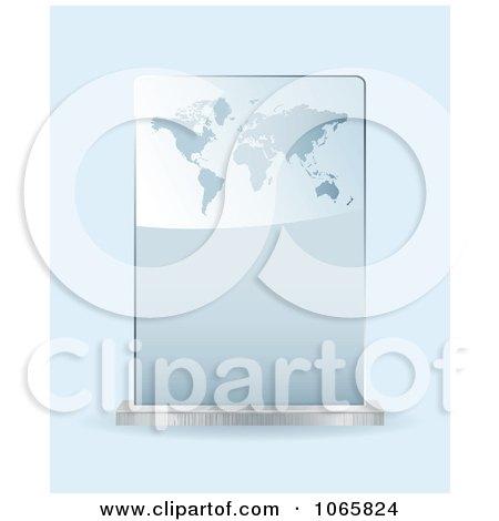 Clipart 3d Atlas Glass Award - Royalty Free Vector Illustration by michaeltravers