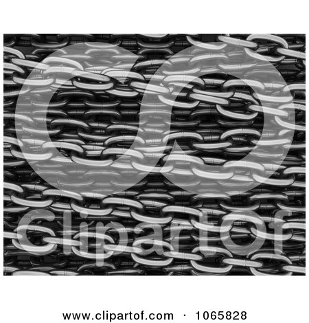 Clipart 3d Steel Chains Background - Royalty Free CGI Illustration by KJ Pargeter