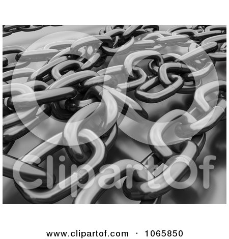 Clipart 3d Tangled Chains - Royalty Free CGI Illustration by KJ Pargeter