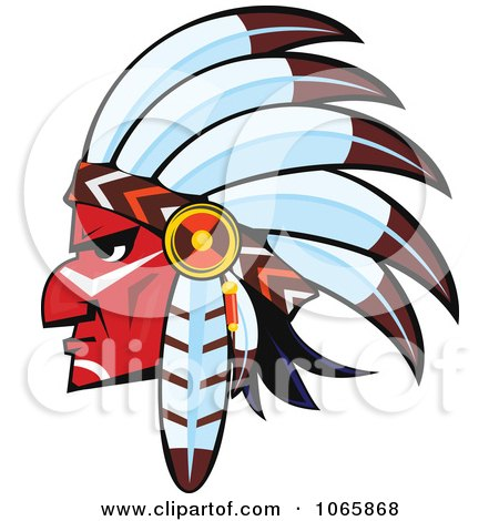 Clipart Native American Brave 4 - Royalty Free Vector Illustration by Vector Tradition SM