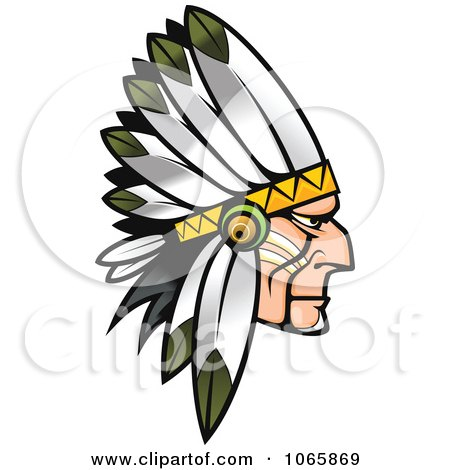 Clipart Native American Brave 2 - Royalty Free Vector Illustration by Vector Tradition SM