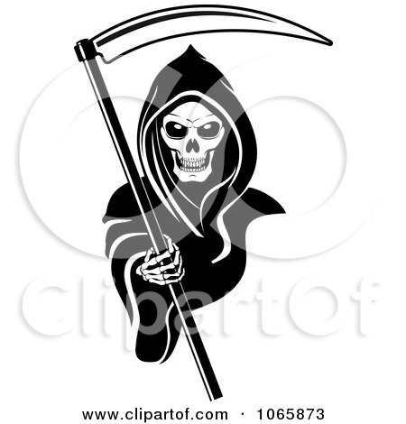 Clipart Grim Reaper 2 - Royalty Free Vector Illustration by Vector Tradition SM