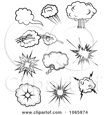 Clipart Comic Poofs 1 - Royalty Free Vector Illustration by Vector Tradition SM